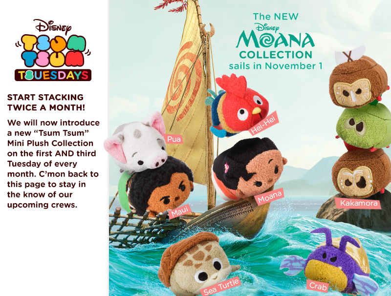 Moana Tsum Tsum Collection Coming Soon Plus Speculation On Mysterious Crab Character Magic Mania